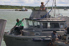"""I think it's going to come in really strong, and late,"" said F/V Crimson Hunter skipper Braden Williams, speaking about the run to the Naknek-Kvichak District he fishes. His first two fishing periods had not been very profitable. Credit Hannah Colton"