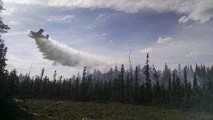 Crews from the Lower 48 are battling the Spicer Creek Fire near Tanana. Photo: Inciweb.