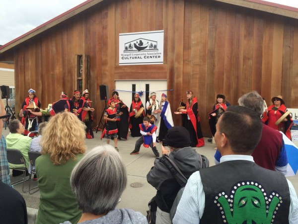 Dancers kick off the grand opening of the Wrangell Cooperative Association Cultural Center on Saturday, July 25, 2015. (Katarina Sostaric/KSTK)