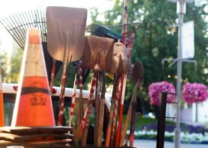 Each morning crews spread across the city's 223 parks. Photo: Zachariah Hughes.