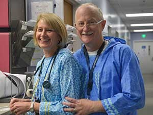 Dr. David Compton with Nurse Caroline Compton who is also his wife. Photo Courtesy of YKHC.