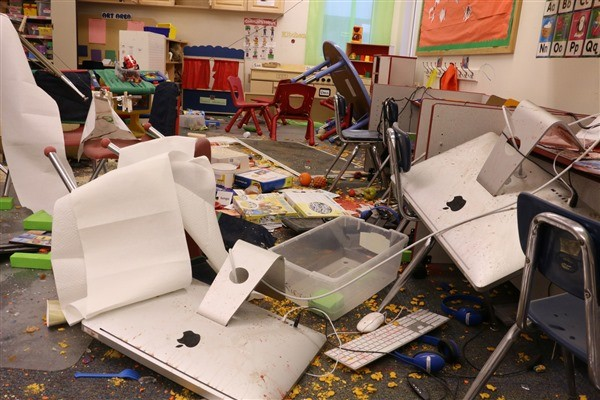 Damages to the school and vehicles is pegged around $100,000. Photo: KYUK.