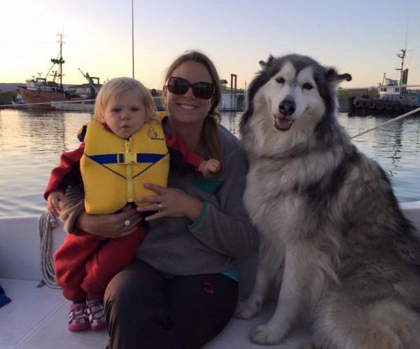 Amelia, Melissa and Koala are three of the newest sailors kicking around Kachemak Bay this summer. Photo courtesy of the Bradleys.