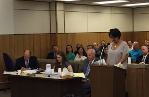 Melissa Holder testified during the sentencing hearing of Alexandra Ellis, who killed Holder's husband in a hit-and-run last year. Hillman/KSKA