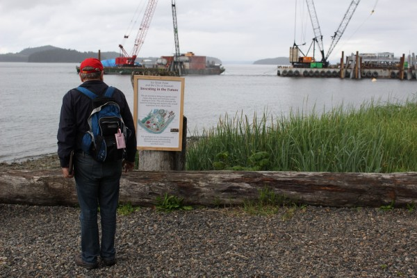 The location of the new dock at Icy Strait Point. (Photo by Elizabeth Jenkins/KTOO)