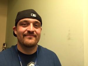 Mike Hindman at the Brother Francis Shelter. (Hillman/KSKA)