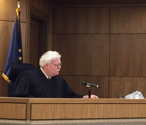 Judge Michael Wolverton as he prepared to issue the sentence. Hillman/KSKA