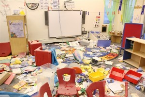 A Bethel school was vandalized over the weekend. Photo: KYUK.