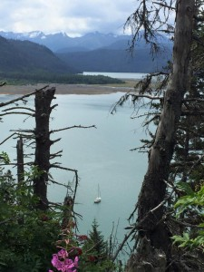 When they're not sailing, the Bradleys head for shore to explore the different hikes and beaches around Kachemak Bay. Photo courtesy of the Bradleys.
