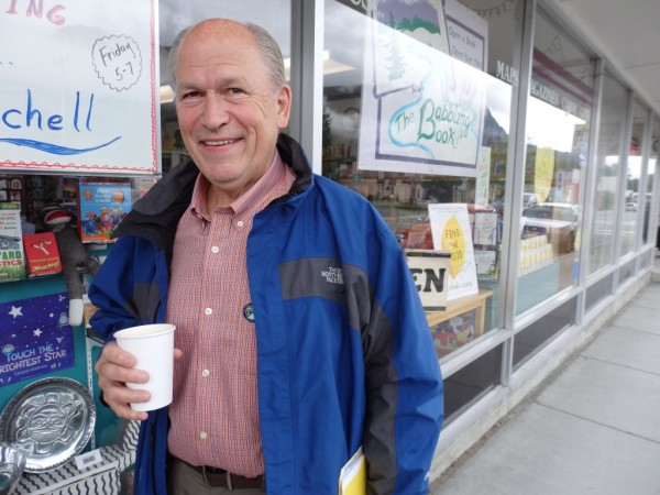 Gov. Bill Walker in Haines Thursday. (Emily Files-KHNS)