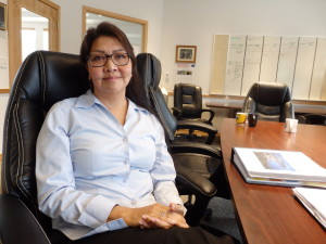 Harriet Brouilette is tribal administrator for Chilkoot Indian Association. (Emily Files-KHNS)