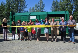 The new recycling program comes online in Talkeetna. (KTNA photo)