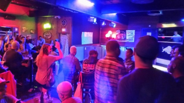 RSVP patrons enjoy the drag performances during Monday night's event. (Photo by Lakeidra Chavis/KTOO)
