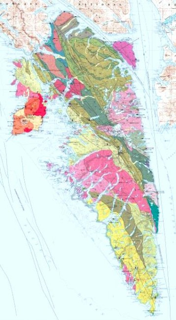 The U.S. Geological Survey in Anchorage recently released this map of Baranof Island in Southeastern Alaska. Click here for a full view. (Image courtesy USGS)