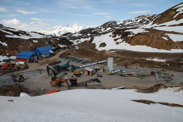 The Brucejack mine site is shown in this 2013 photo. (Photo courtesy Pretivm Resources)