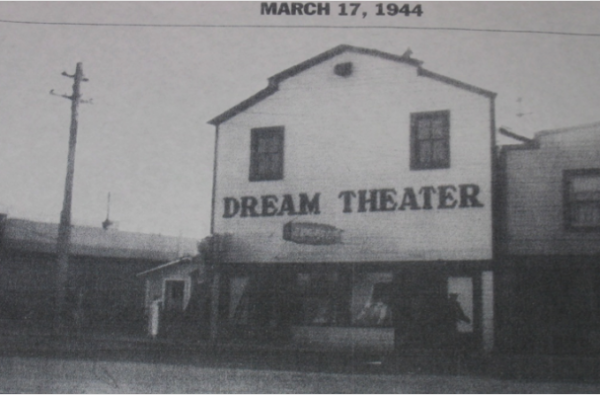 The Dream Theater on Nome's Front Street back in 1944. Photo courtesy of the Carrie McLain Museum.