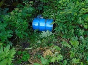 Picture of one of the drums. Via a post by Jennifer Culbertson on Friends of Kodiak/Facebook. Shared via KMXT.org.