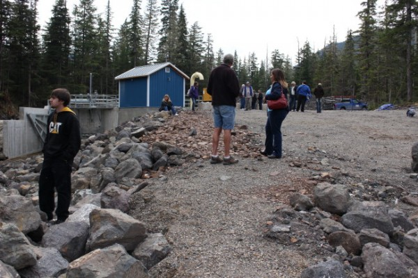 The project was supported by the City of Hoonah, Sealaska Corp., Huna Totem Corp. and the Hoonah Indian Association. (Photo by Elizabeth Jenkins/KTOO)