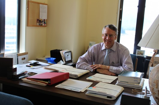 Ketchikan District Attorney Stephen West Sits Behind His Desk Loaded With  Case Files On The Third