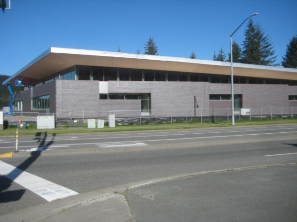 The new library at Dimond Park is expected to open in November. (Photo courtesy of Friends of the Juneau Public Libraries)