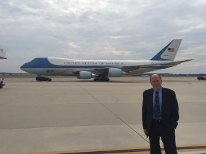 Governor Bill Walker will fly to Alaska with President Barack Obama aboard Air Force 1. (Photo via Gov. Walker's Twitter stream)