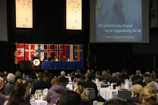 Representatives from countries throughout the circumpolar North gathered at this week's Arctic Energy Summit in Fairbanks. (Rachel Waldholz/APRN)