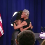 Elvi Gray-Jackson hugs First Lady. Photo:White House