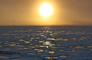 Arctic waters seen from the U.S. Coast Guard Cutter Healy. Photo: NASA Goddard Center.