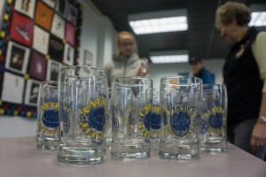 Tasting glasses for Capital Brewfest 2015.(Photo by Jeremy Hsieh/KTOO)