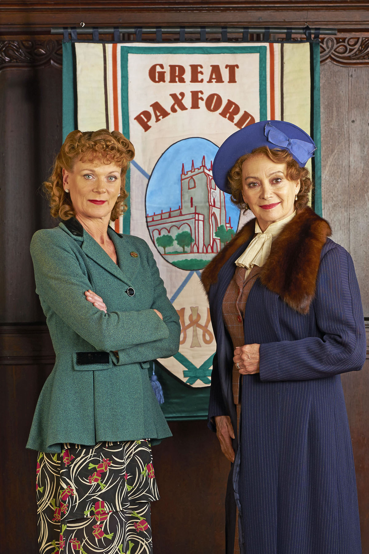 Samantha Bond as Frances Barden and Francesca Annis as Joyce Cameron star in HOME FIRES.. (Photo Courtesy of Courtesy of © ITV Studios for MASTERPIECE)