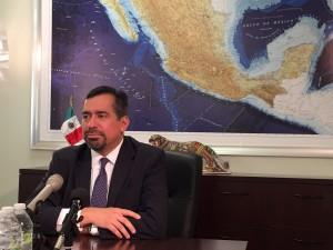 Consul of Mexico in Seattle Eduardo Baca spoke about the closing of Anchorage's Consulate. (Hillman/KSKA)