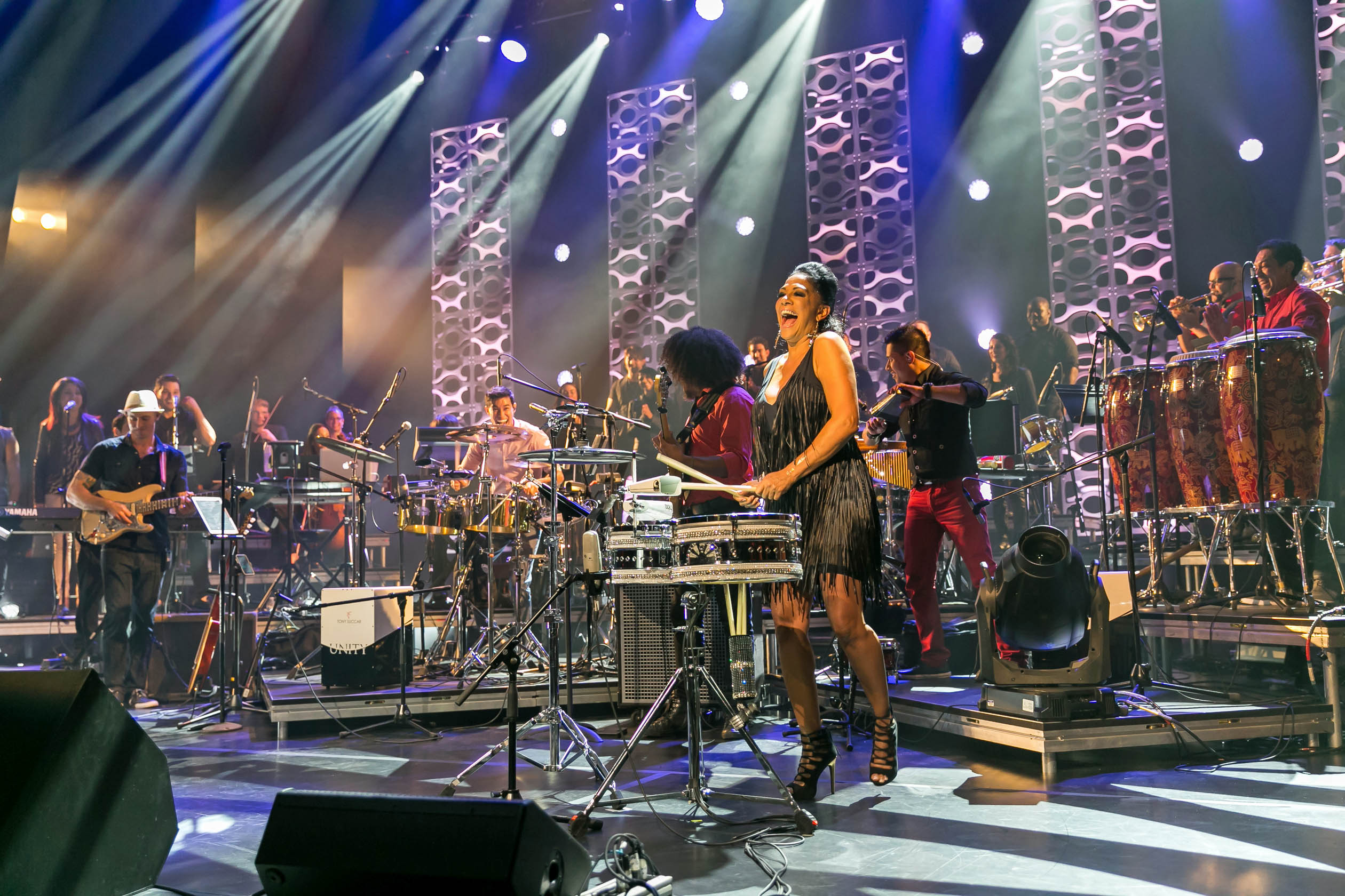Hear Latin-infused arrangements of iconic songs in this concert special hosted by Sheila E. (Courtesy of: Courtesy of Ciprian Lacob)