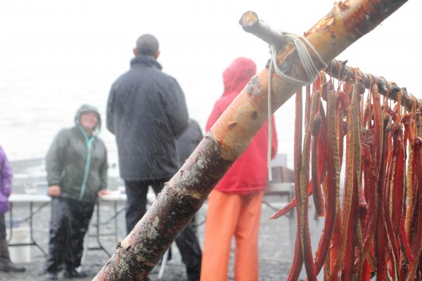 """Obama met with fishermen (and fisherwomen) on Kananak Beach in Dillingham. He called Bristol Bay """"one of the most important natural resources the United States has."""" Photo: Hannah Colton/KDLG."""