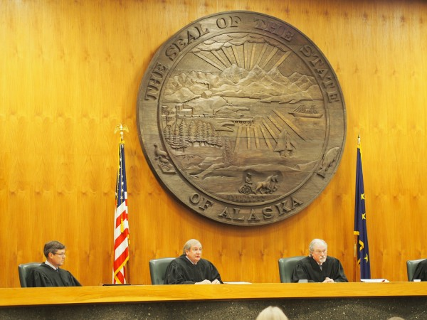 The Alaska Supreme Court hears arguments Sept. 16 in a case that could change how the state pays for education. Photo: Zachariah Hughes/KSKA.