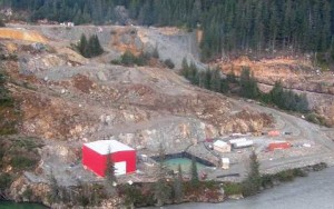The Tulsequah Chief Mine installed a water treatment plant to treat acid rock drainage. But it was shut down due to high operational costs. (Photo courtesy Chieftain Metals)