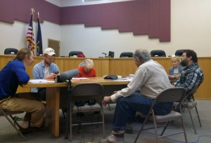 Bethel city councilmembers and the city clerk listen to the ABC Board meeting. (Photo by Lakeidra Chavis/ KYUK)