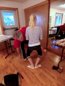 Lydia Martin practices with her new perfectly fitting pointe shoes.(Joe Sykes)