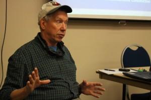 Joel Curtis called the Sitka landslide an emotional site. (Photo by Elizabeth Jenkins/KTOO)
