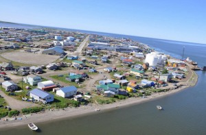 The community of Kotzebue photographed in July 2012. Photo: ShoreZone via Flickr Creative Commons.