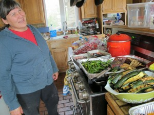 Davidson in her kitchen in Bethel. Photo Credit: Annie Feidt