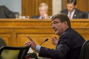 Defense Secretary Ash Carter testifies at a Senate hearing. (Photo: DoD)