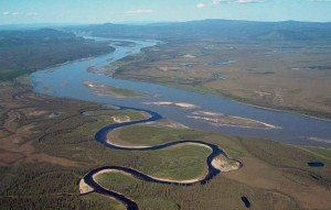 Where the Charley River meets the Yukon. (Photo by USGS)