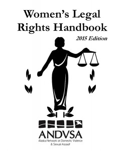 The Women's Legal Rights Handbook is available online and at women's shelters and advocacy organizations across the state. (Image courtesy of ANDVSA)