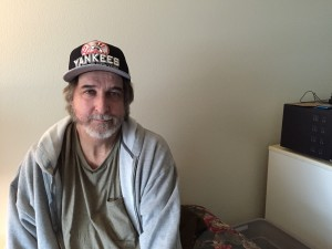 Leo Tondreault recently moved into his own place at Safe Harbor after four years on the street. (Hillman/KSKA)