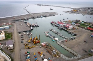 Aerial view of Nome's port. (Photo: Joy Baker/Nome Port Director)
