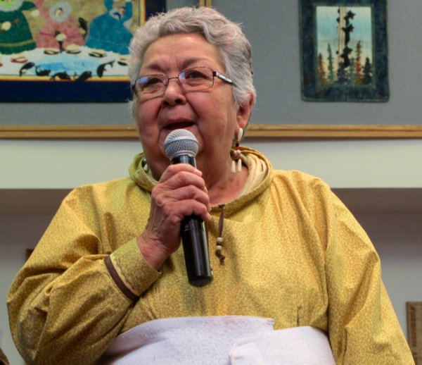 Bea Kristovich is the first woman traditional chief of AVCP. Photo- Anna Rose MacArthur / KYUK.