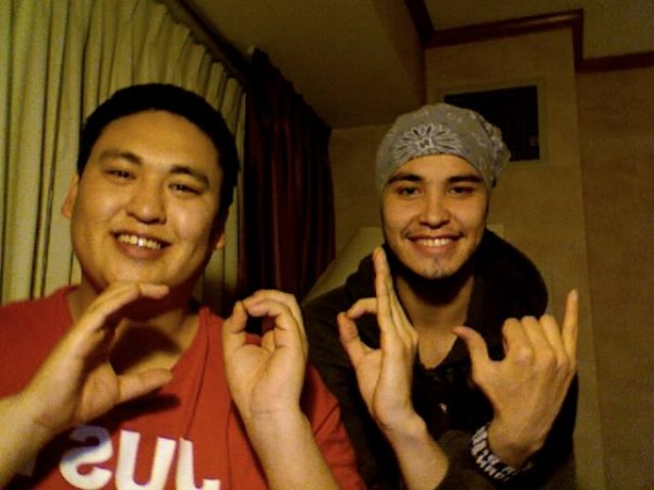 """Cody Pequeño, 24, and Cody Ferguson, 26, spell out their name for the Facebook page, """"Can I Borrow."""" (Photo from """"Can I Borrow"""" Facebook page)"""