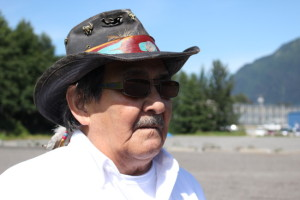 John Morris remembers the spot where his house once stood. (Photo by Elizabeth Jenkins/KTOO)