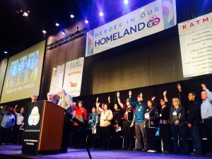 Fairbanks 4 parolee speaks out at AFN to standing ovation