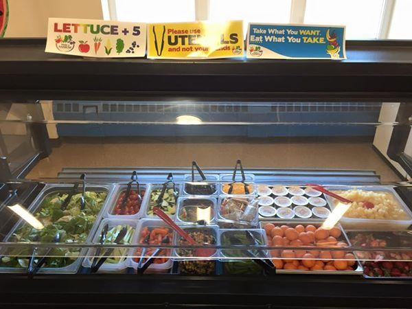 The Bristol Bay Borough school's salad bar was purchased with a grant in 2013.